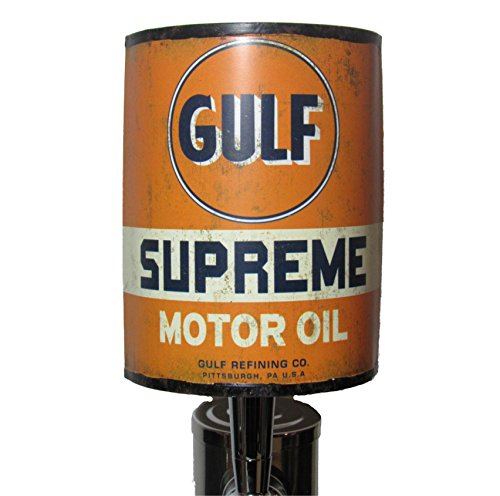 (Gulf Supreme Oil Can Sports Bar Beer Tap Handle Kegerator Breweriana)