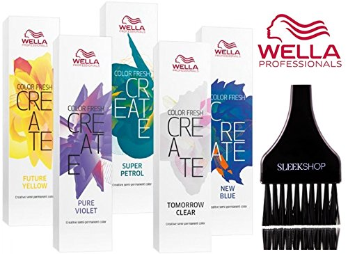 Wella COLOR FRESH CREATE Semi Permanent Shades Hair Color (with Sleek Tint Brush) (Tomorrow Clear)