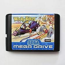 Wacky Races 16 bit SEGA MD Game Card For Sega Mega Drive For Genesis ,Sega Genniess-Sega Ninento,16 bit MD Game Card