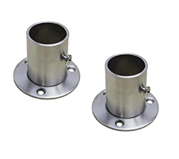 Perfect NELXULAS Stainless Steel Closet Rod Flange Holder For Pipe (AD2)