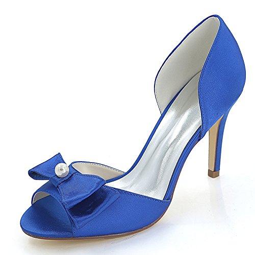 Alto Blue Alto per Donna Cm Alto Sposa Le A A Tacco di Mano 9 Gattino da Fatto Elobaby da Tacco Forma Tacco Scarpe 5HfBqB