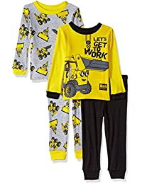 70c030a11 Bob the Builder Conjunto de Pijama de algodón de 4 Piezas para niños  pequeños