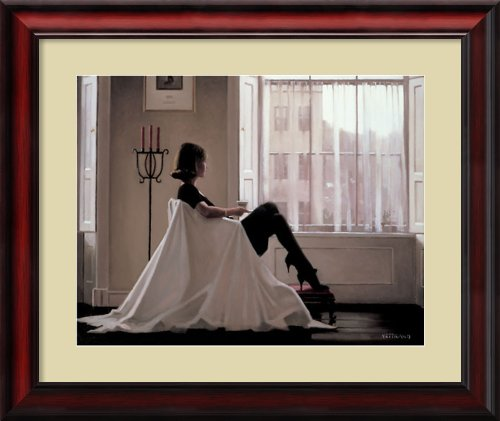 In Thoughts of You Framed Print by Jack Vettriano Framed