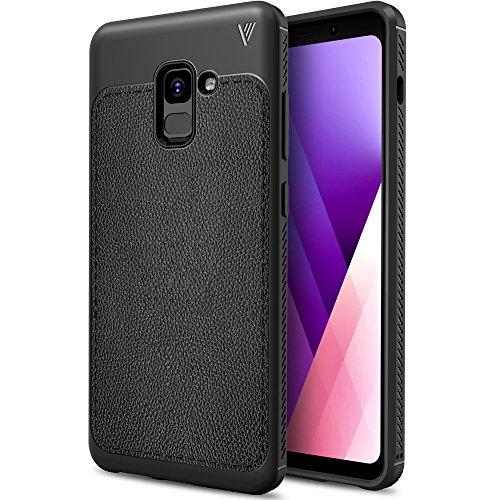 Samsung Galaxy J7 Prime 2018 Funda, iBetter anti-rasca la Carcasa alta calidad TPU de la imitación ninguna Case del teléfono móvil caja del teléfono Cover para Samsung Galaxy J7 Prime 2018, (Gris) Negro