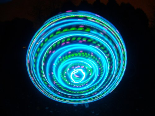 "36"" - 24 Strobing/Color Changing/Solid Color LED Hula Hoop - Vibrant Aurora"