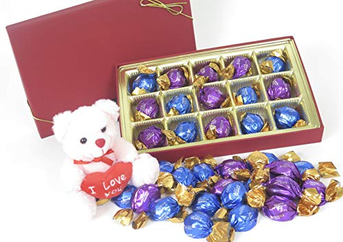 Love Godiva (Christmas Large Red Book fill with Godiva Chocolate, and I love You teddy)