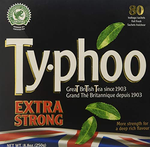- Typhoo Extra Strong - Tea Bags 80 Foil Fresh Teabags