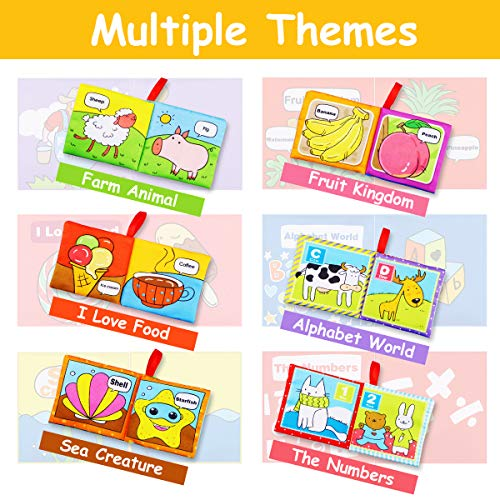 Magicfun Cloth Book Baby, Baby Books Baby's First Soft Cloth Book Set Infant Children Educational Toys Baby Gifts for…