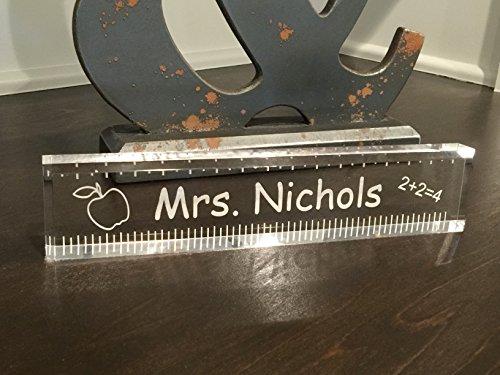 Acrylic Teacher Office Desk Bar - Beautiful Teacher Appreciation Gift.