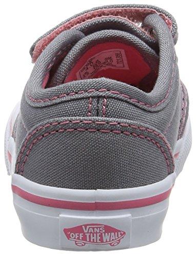 Vans T Atwood V - Zapatillas de Deporte de tela Infantil Gris (Canvas Grey/pink Lemonade)