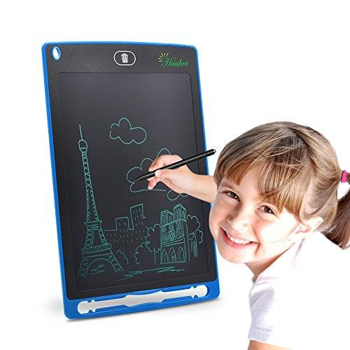LCD Writing Tablet, 8.5-inch Screen Electronic Writing Board,Handwriting Paper Doodle Pad with Stylus Tablets for Kids and Adults at Home, School and Work Office (Blue)