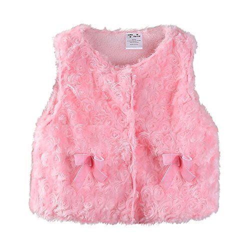 Mud Kingdom Cute Baby Girl Vest Jacket Pink 18 Months Faux Fur