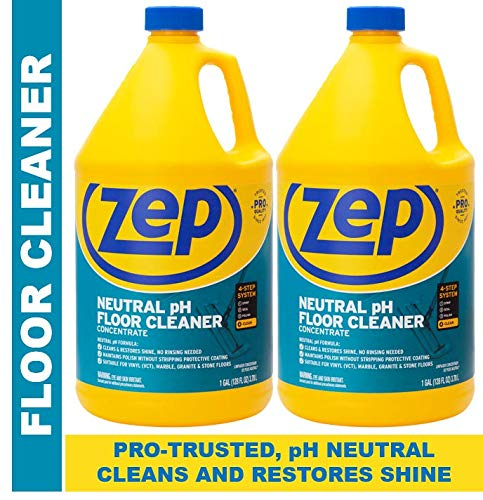 (ZEP Neutral pH Floor Cleaner Concentrate 128 Ounces (2 Pack) ZUNEUT128 - Pro Trusted for daily floor cleaning with no residue)