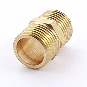 1/2PT x 1/2PT Male to Male Thread Hex Nipple Fitting Pipe Connector