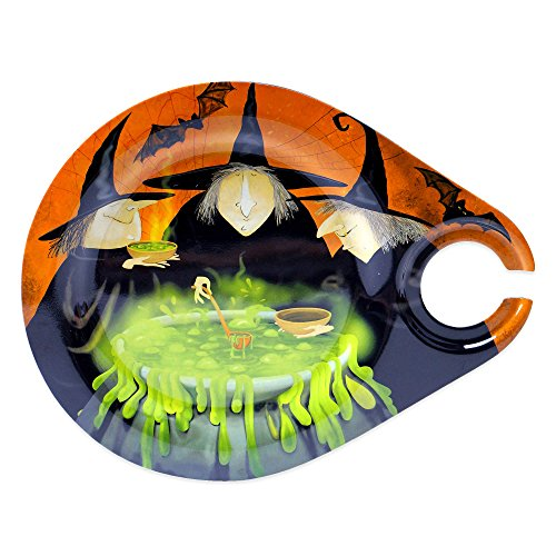 Certified Intl Melamine Halloween Witch Plate with Wine G...