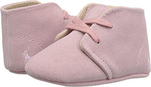 Ralph Lauren Layette Girls' Carl Pink Boot, Pink Suede, 3 M US - Ralph Boots Baby Lauren