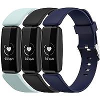 Shieranlee (3-pack bandjes compatibel met Fitbit Inspire 2 riem, zachte siliconen sport klassieke vervanging kleurrijke…