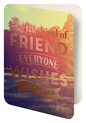 Studio Oh! Foil Stamped Artisan Notecards, The Friend Everyone Wishes They Had