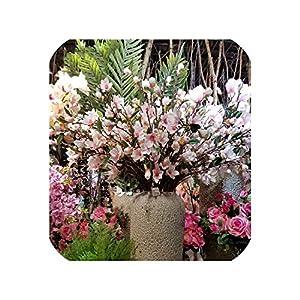 Single Branch 4fork Elegant Magnolia High-Grade Artificial Flower Garden Artificial Flower System Wedding Home Decor Silk floers 15