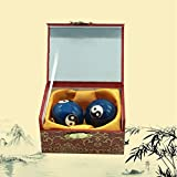 1.4'' Cloisonne Health Hand Balls Carved Tai Chi