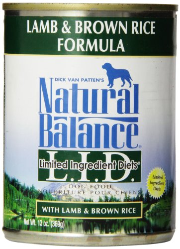 Natural Balance Limited Ingredient Diets, Lamb and Brown Rice Formula, Canned Dog (Brown Diet Dog Food)