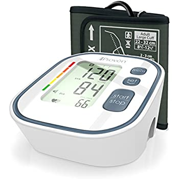 Digital Automatic Blood Pressure Monitor - Upper Arm Cuff - Large Screen - Accurate & Fast Reading Electronic Machine - Top Rated BP Monitors and Cuffs - FDA Approved - iProvèn BPM-634 - For Home Use