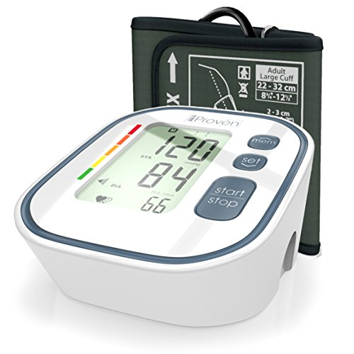 Digital Automatic Blood Pressure Monitor - Upper Arm Cuff - Large Screen - Accurate & Fast Reading Electronic Machine - Top Rated BP Monitors and Cuffs - FDA Approved - iProvèn BPM-634 - For Home Use Rated Electronics