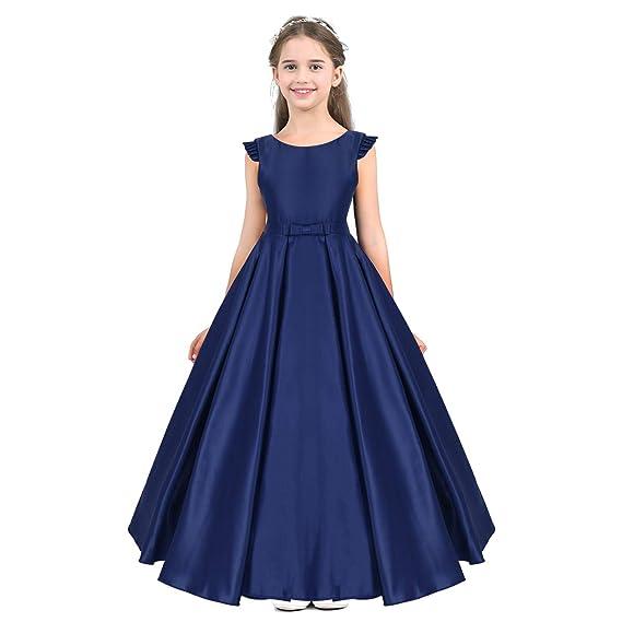 YiZYiF Vestido Princesa de Ceremonia para Niñas Vestido de Boda ...