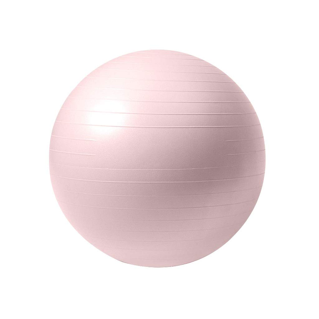 Anti-Burst Exercise Ball, Stability Ball 55cm Diameter Pump for Yoga Pilates Fitness Physical Therapy Gym and Home Exercise - Suitable for Men & Woman (Color : Pink, Size : 55cm)