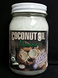 Coconut Oil Centrifuge Extracted Virgin Certified Organic, Bio-active Non-gmo Centrifuged Cold under 78* (Buy 2 Get 1 FREE) 32fl oz - BPA Free Glass High Lauric Acid NO Trans Fatty Acids by Natur-Pur