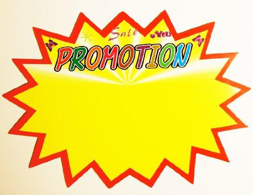 «Promotion» Afficher les prix de vente, a été/tarifs, ventes Message- Cartes ventes, un paquet de 10, Grand 180x130mm Well Made Tools