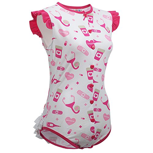 51c4a3f1ccd8 ... Littleforbig Adult Baby Diaper Lover ABDL Snap Crotch Romper Onesie -  Lovesick Pattern · Previous ·   Next