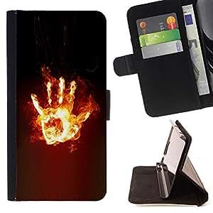 - hand stop dark fire power/ Personalizada del estilo del dise???¡¯???¡Ào de la PU Caso de encargo del cuero del tir???¡¯????n del s - Cao - For Sony Xper