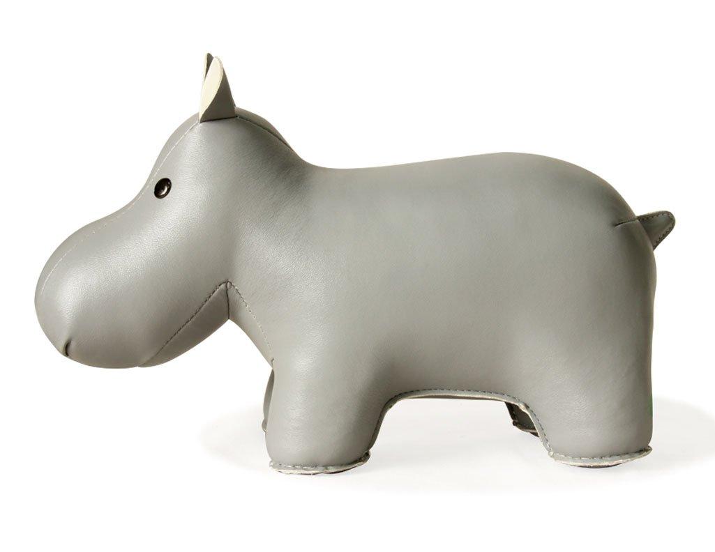 Amazon.com: Zuny Classic Hippo Gray Animal Bookend Decor: Home & Kitchen
