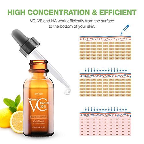51nhIIbJn L - 30% Vitamin C Serum for Face,Hyaluronic Acid & Vitamin E - Natural & Organic Anti Wrinkle Whitening Vitamin C Serum for All Skin - Anti Aging Serum-1 fl oz.