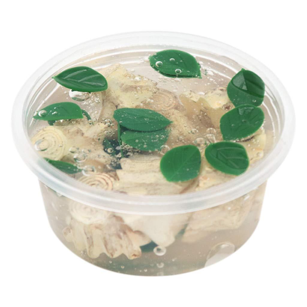 Trigle Jungle Tree Root Crystal Mud Slime Green Leaf Forest Slime Decompression Toy (L)