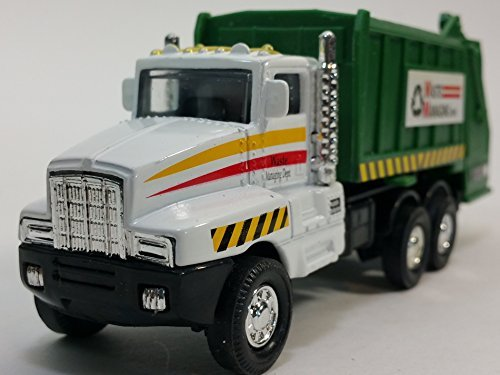 White Garbage Truck Recycle/Waste Management Dept 6