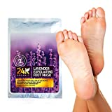 Lavender Foot Peel Mask - Callus and Dead Skin Exfoliation Mask by 24K Organic