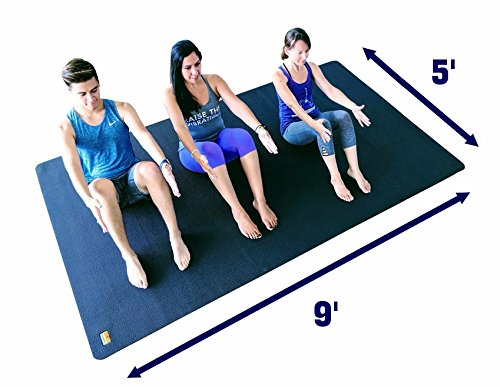 3X Large Yoga Mat And Stretching Mat - 9ft X 5ft x 7mm Thick (108''x 60'') Anti-Tear & Non Slip Yoga Exercise Mat - Extra Long Memory Foam. Pogamat Yoga Mats For Yoga & Cardio Fitness Mat WITHOUT Shoes by Pogamat