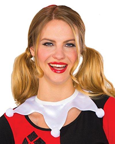 Jester Costume For Woman (Rubie's Women's Dc Comics Harley Quinn Choker, Multi, One Size)