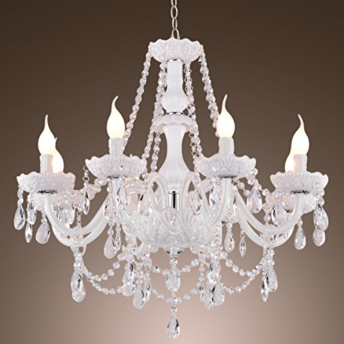 LightInTheBox Chandelier White Crystal Modern Living 8