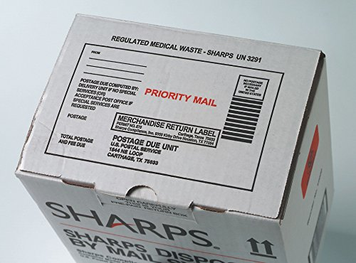 Unimed Midwest Inc Sharps Compliance Sharps Disposal by Mail, 1 Gal, Red, PK3 Plastic S31G129006