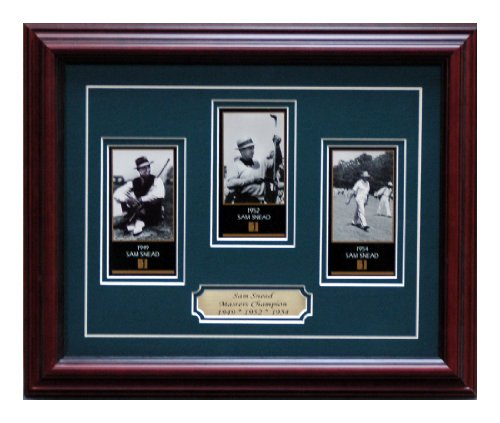 (Sam Sneads Three Masters cards framed)