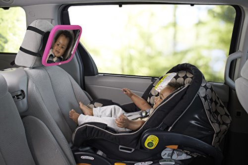 Nuby Back Seat Baby View Mirror, Pink by Nuby (Image #2)