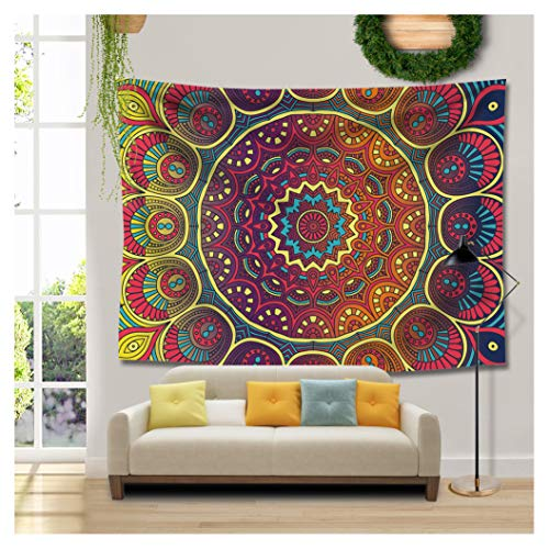 RAISEVERN Tapestry Wall Hanging Color Flower Hippie Tapestry Mandala Bohemian Dorm Decor Psychedelic Tapestry Wall Hanging Ethnic Decorative Hippie Tapestry(Mandala,59.1''X78.7'') by RAISEVERN
