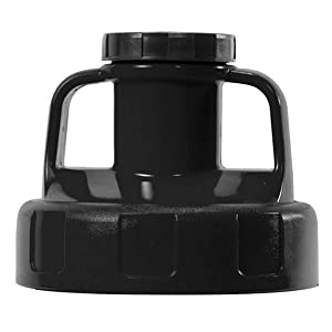 Oil Safe Utility Lid - Multipurpose | Pouring Control | Industrial Grade | Heat-resistant | 10 Different Colors - Black