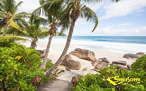 Stairs To Paradise Beach Patio & Gazebo Backdrop Screen 9