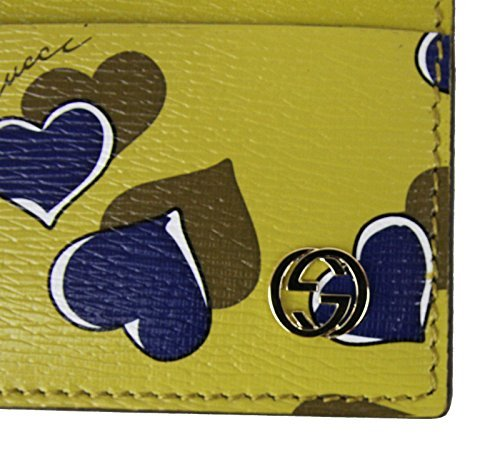 Gucci Heartbeat Collection Leather Card Case Wallet 334483 (Yellow)