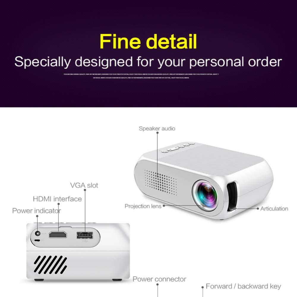 Mini 2400 Portable Video-Proyector, Proyector De La Película del ...