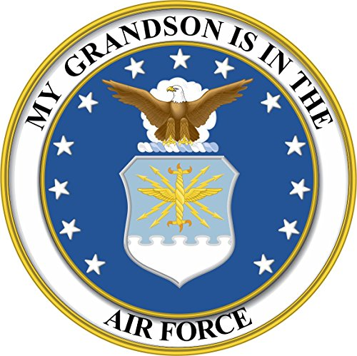 My Grandson is in The US Air Force Seal Pride Vinyl Transfer Decal Military Veteran Served Window Bumper Sticker Vinyl Decal 3.8
